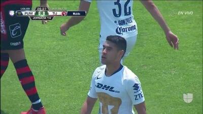 Tiro desviado de Felipe Mora