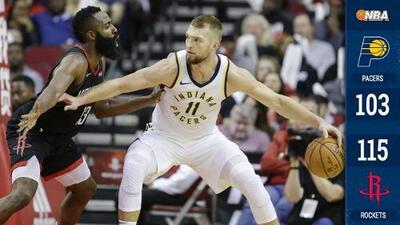 Los Rockets por fin ganaron en casa, gracias a 40 puntos de James Harden