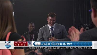 Pick 8 (Tennessee Titans): Jack Conklin, T, Michigan State