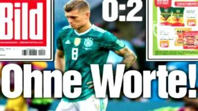 Las duras críticas de la prensa de Alemania, tras la eliminación del Mundial