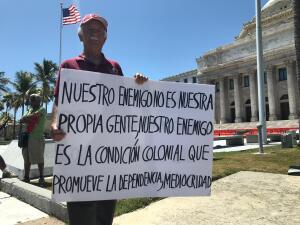 Así está el Capitolio en Puerto Rico en donde se espera que miles de personas asistan pidiendo la renuncia del gobernador