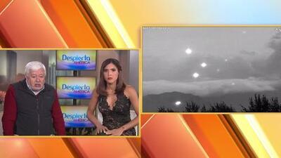 Imágenes increíbles de figuras y OVNIS en cielos mexicanos cerca de los volcanes