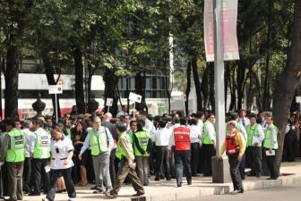 Simulacro de sismo en la Ciudad de México