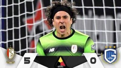 Guillermo Ochoa luce con el Standard Lieja, ganan por goleada y sueñan con el título