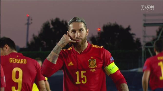 Goles con los que España derrotó 4-0 a Ucrania en la UEFA Nations League