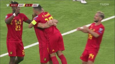 Gran pase, buena recepción y Meunier pone el 2-0 para Bélgica