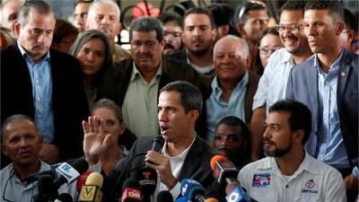 """""""Aquí está el presidente encargado de Venezuela dándoles la cara"""": el mensaje de Guaidó a trabajadores públicos"""