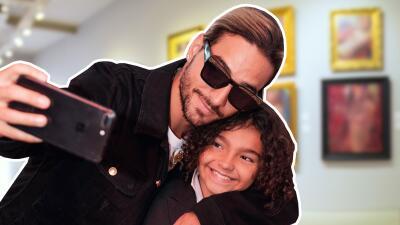 Maluma cumple su promesa y sorprende a su sobrino de 9 años