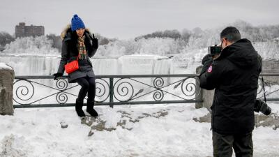 En fotos: ¿Se pueden congelar totalmente las cataratas del Niágara?