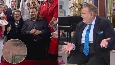 La estrella de Raúl de Molina en el Paseo de la Fama de Miami desapareció y así fue su reacción