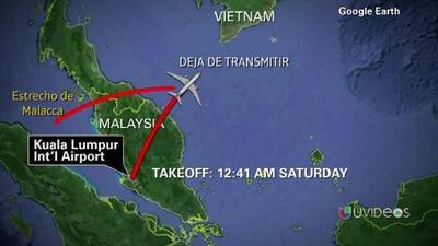 Malasia detecta señal de radar que podría ser de avión desaparecido