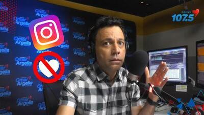 """""""Es puro ego"""": Omar aplaude que la prueba de quitar los 'likes' en Instagram fuese exitosa"""
