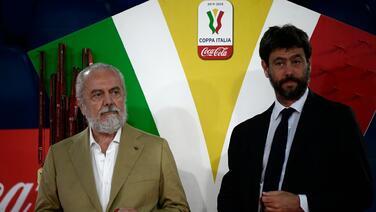 El presidente del Napoli presiona a la UEFA para no jugar en el Camp Nou