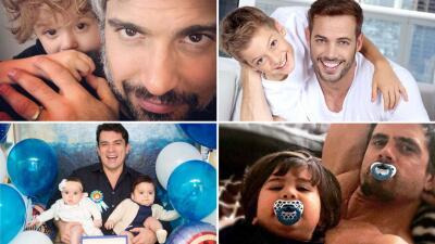 Son actores de telenovela y papás muy cariñosos