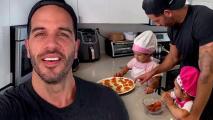 Cocinando y aprendiendo, así convive el Chef Yisus esta cuarentena con las pequeñas Anabella y Silvana
