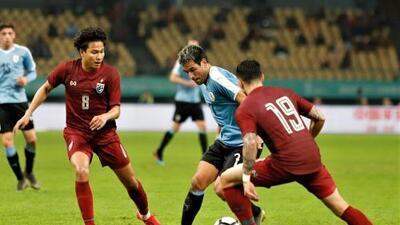 Con Nicolás Lodeiro como titular, Uruguay goleó a Tailandia y se adjudicó la China Cup