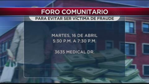Realizan Foro comunitario para evitar ser víctima de fraude