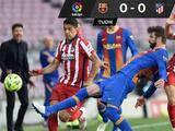 Barcelona y Atlético empatan sin goles y se les va LaLiga