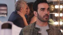 Martín encontró a Sergio y Julieta besándose