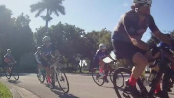 Así es un recorrido por 'El Hueco' en Doral con los amantes del ciclismo