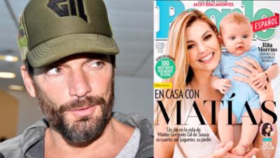 El color de ojos de Matías enciende una controversia (sin fundamento) sobre si Julián Gil es su padre
