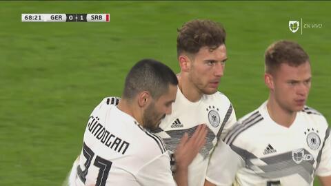El 'Gegenpressing' de Alemania que empata a Serbia con gol de Goretzka