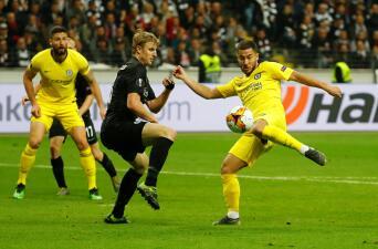 En fotos: Eintracht Frankfurt y Chelsea dejaron en suspenso la Semifinal de Europa League