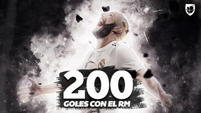 Benzema: más de 200 goles con el Real Madrid y tercer mejor goleador de la Champions