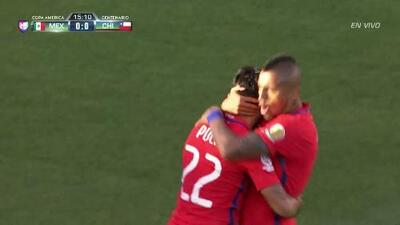 Goooolll!! Edson Raúl Puch Cortés mete el balón y marca para Chile