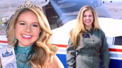 Muere reina de belleza que soñaba con ser piloto profesional al estrellarse el avión que volaba