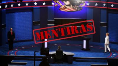 Las mentiras del tercer debate presidencial: Trump 10 - Clinton 2