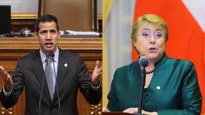 "Juan Guaidó le pide a Michelle Bachelet que verifique la ""emergencia humanitaria"" en Venezuela"
