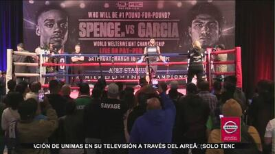 Llega Errol Spence Jr y Mikey García a Dallas