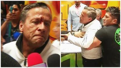 Con la cara ensangrentada, Alfredo Adame da sus primeras declaraciones luego de recibir un botellazo