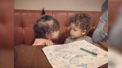 El hijo de Nacho recibió su primer beso... y de la hija de un grandeliga