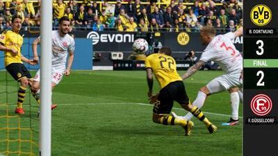 Dortmund despide a Pulisic con vibrante triunfo que mantiene ilusión por el título