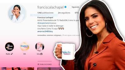Francisca Lachapel celebra, al estilo de Thalía, sus 2 millones de seguidores en Instagram