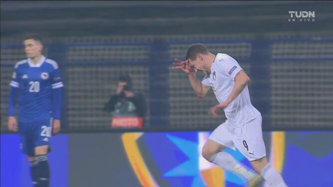 ¡Italia cierra el grifo! Golazo de Andrea Belotti para 0-1 ante Bosnia