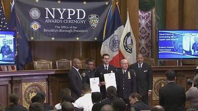 Con un sentido homenaje, la policía de Nueva York recordó a Lesandro Guzmán, quien murió a manos de pandilleros