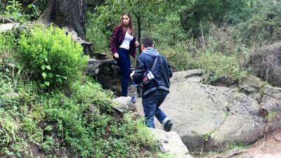 Detrás de cámaras del ataque de Arley a Amanda en fotos