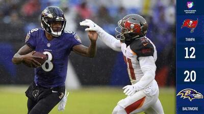 Baltimore derrotó a Tampa Bay liderado por Lamar Jackson