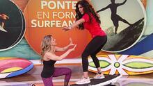 Francisca descubrió los cinco beneficios que tiene ejercitarse sin ir a la playa pero usando una tabla de surf
