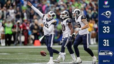 Gracias a tres touchdowns de Todd Gurley los Rams siguen invictos y vencen a los Seahawks