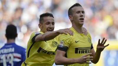Inter salvó un punto de su visita a Sampdoria y Roma goleó al Palermo