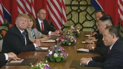 Termina abruptamente la reunión entre Trump y Kim Jong-un