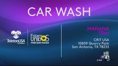 Bellezas latinas se unen para lavar autos en beneficio del CRIT USA
