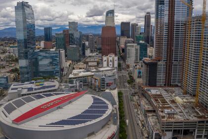 Esta otra imagen muestra los grandes rascacielos del centro de la ciudad y sus principales calles aledañas completamente desoladas, producto de las estrictas medidas de cuarentena. <br> <br>
