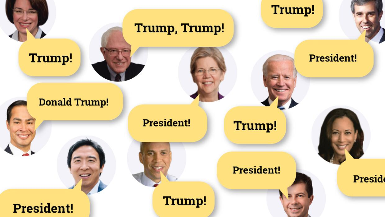 Interactive: Counting the times Democratic candidates attacked Trump in the third Democratic debate