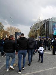 LONDON, ENGLAND - APRIL 13: General view outside the stadium prior to the Premier League match between Tottenham Hotspur and Huddersfield Town at the Tottenham Hotspur Stadium on April 13, 2019 in London, United Kingdom. (Photo by Catherine Ivill/Getty Images)