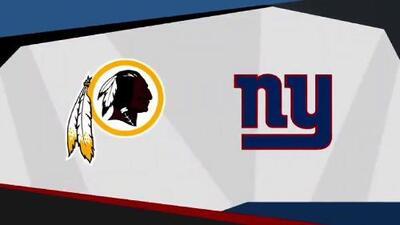 Reviven Redskins y Giants añeja rivalidad en Jueves por la Noche